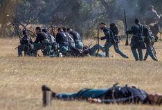 Union Troops in Battle Stock Image