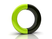 Union of two elements of circle Stock Images