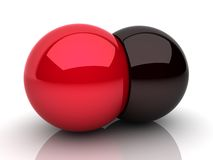 Union of two spheres Royalty Free Stock Photo