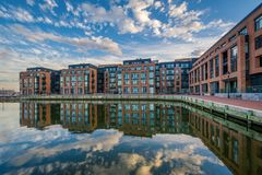 Union Wharf, in Fells Point, Baltimore, Maryland.  royalty free stock images