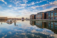 Union Wharf, in Fells Point, Baltimore, Maryland.  stock photos