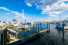 Union Wharf Waterfront in Fells Point in Batimore, Maryland.  Stock Images