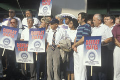 Union workers protesting NAFTA Stock Images