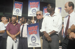 Union workers protesting NAFTA Royalty Free Stock Images