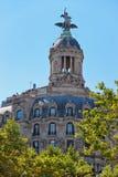 Union y el Fenix Espanol Building in Passeig de Gracia Royalty Free Stock Image