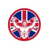 Unione britannica Jack Flag Icon di idoneità fisica royalty illustrazione gratis