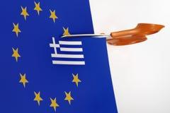 Unione dell'euro dell'uscita della Grecia Immagini Stock