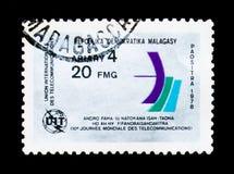 Unione della telecomunicazione internazionale, serie, circa 1978 Immagine Stock
