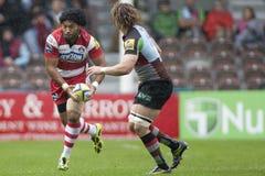 2011 unione di rugby di Aviva Premiership, arlecchini v Gloucester, settembre Fotografia Stock
