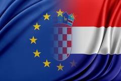 Unione Europea e la Serbia Il concetto della relazione fra l'UE e la Serbia Fotografie Stock Libere da Diritti