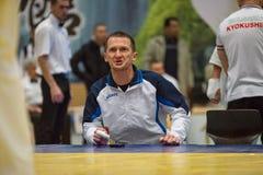 Unione europea KWU del mondo di Kyokushin di campionato per i bambini e la gioventù 2017 Fotografia Stock Libera da Diritti