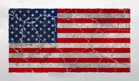 Unione fratturata, la bandiera americana Immagine Stock