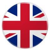 Unione Jack Flag Button, della Gran Bretagna illustrazione 3d illustrazione di stock