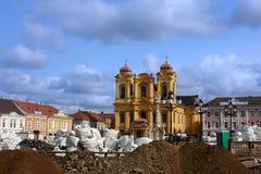 Unionfyrkant (den Unirii fyrkanten) i Timisoara, Rumänien Arkivfoto