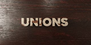 Unions - grungy wooden headline on Maple  - 3D rendered royalty free stock image. This image can be used for an online website banner ad or a print postcard Vector Illustration