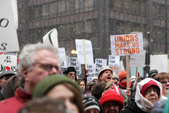 Unions Make Us Strong Rally Royalty Free Stock Photo