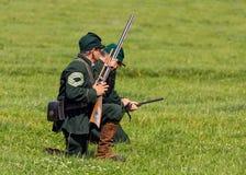 Unionsarmee-Scharfschützen des amerikanischen Bürgerkrieges Stockfoto