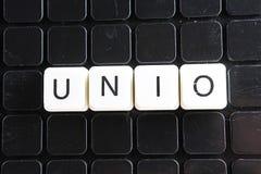 Uniotext-Wortkreuzworträtsel Alphabetbuchstabe blockiert Spielbeschaffenheitshintergrund Weiße alphabetische Buchstaben auf schwa Stockbilder