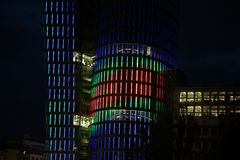 Uniqa Tower in Vienna by night Royalty Free Stock Photo