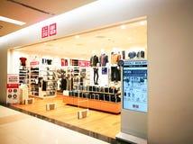 Uniqlo商店在泰国 免版税库存图片