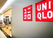 Uniqlo商店在泰国 免版税图库摄影