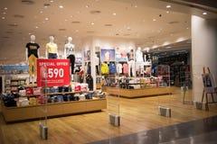 Uniqlo商店,日本便衣设计师 库存图片