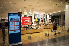 Uniqlo商店,日本便衣设计师 图库摄影