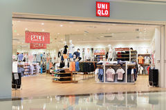 Uniqlo fashion shop Stock Photos