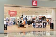 Uniqlo fashion shop stock photos