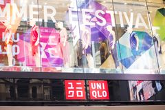 Uniqlo shop in Sidney Royalty Free Stock Photo