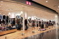 Uniqlo store , Japanese casual wear designer Stock Images