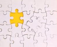Unique élément, blanc, puzzle Photographie stock libre de droits
