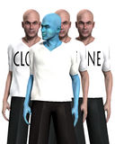 Unique 1. A conceptual image of a unique man, standing in front of a man that has been cloned many times Royalty Free Stock Photo