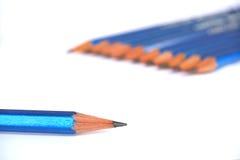 Unique. Some pencils captured on white Stock Photos