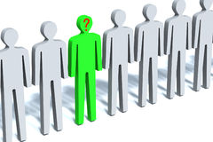 Unique. Illustration on which the person is represented elites among crowd, unique to those or other attributes stock illustration