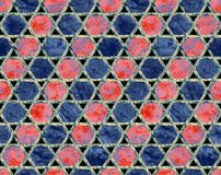 Abstract colorful block print pattern royalty free stock photo