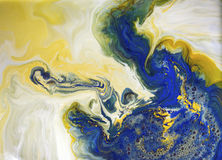 Unique abstract desing - painting with ink under water Stock Photography