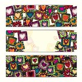 Unique abstract ethnic pattern card set Royalty Free Stock Photo