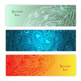 Unique Abstract Ethnic Pattern Card Set Royalty Free Stock Image