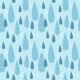Unique abstract random seamless pattern. The vector hand draw background. Best for wedding cards, bedroom, bags. Rain water drop Royalty Free Stock Images