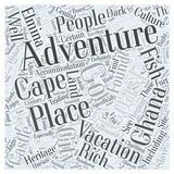 A unique adventure vacation in ghana word cloud concept  background Royalty Free Stock Photography