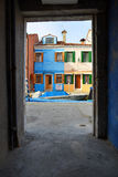 Framed view of Burano Stock Photos
