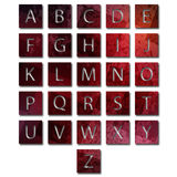 Unique alphabet set Royalty Free Stock Images