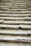 Unique, ancient, solid stone stairs Royalty Free Stock Image