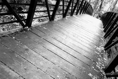 Unique Angle of a Footbridge Royalty Free Stock Images