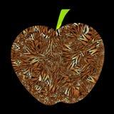 Unique apple illustration with tiger fur patterns vector illustration
