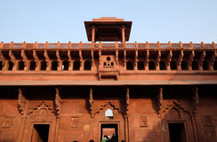 Red Fort, Agra. Unique architectural details of Red Fort, Agra, UNESCO World heritage site, India Stock Images