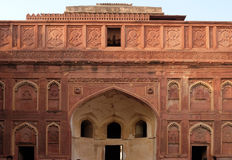 Red Fort, Agra. Unique architectural details of Red Fort, Agra, UNESCO World heritage site, India Stock Image