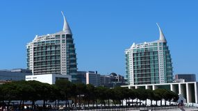 Unique Architecture In Lisbon Portugal stock photos