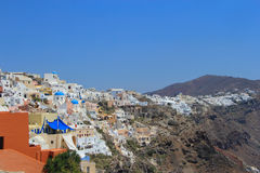 The unique architecture of Santorini, Greece Royalty Free Stock Photography